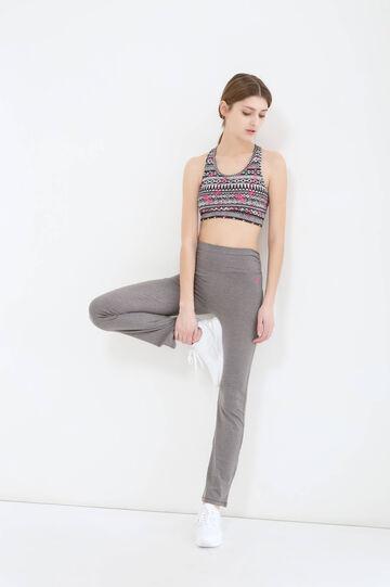 Solid colour cotton gym pants