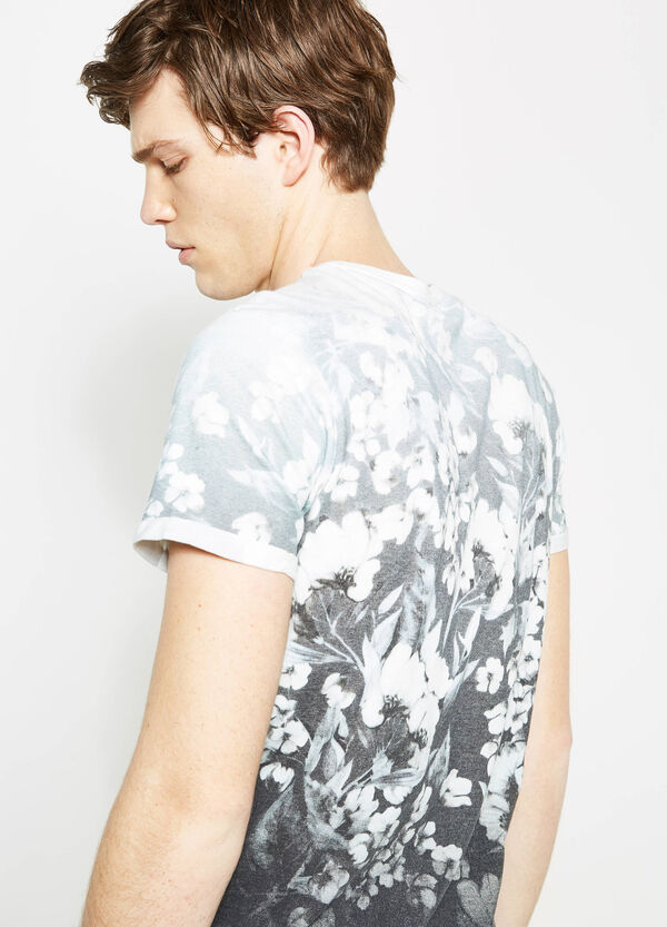 Floral pattern T-shirt with degradé-effect | OVS