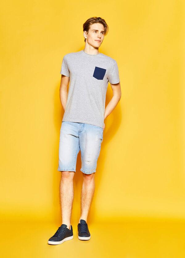 Straight-fit denim Bermuda shorts | OVS