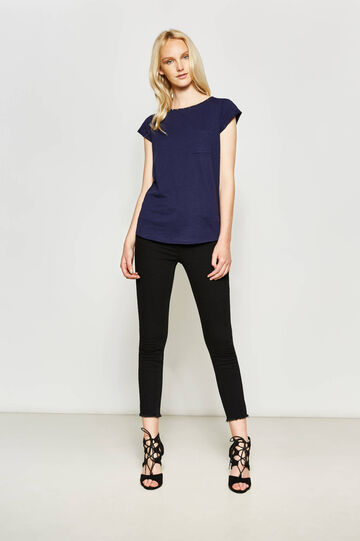 Cotton T-shirt with studs