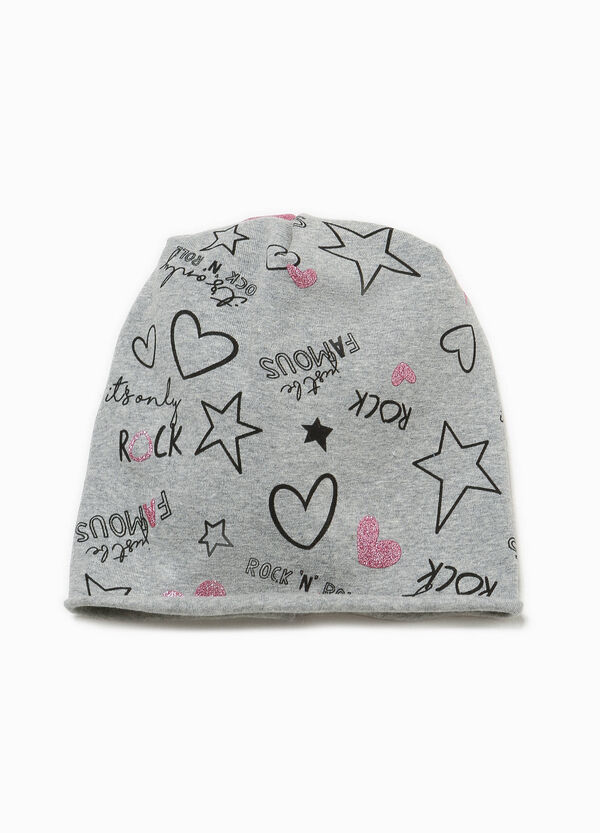 Beanie cap with all-over print | OVS