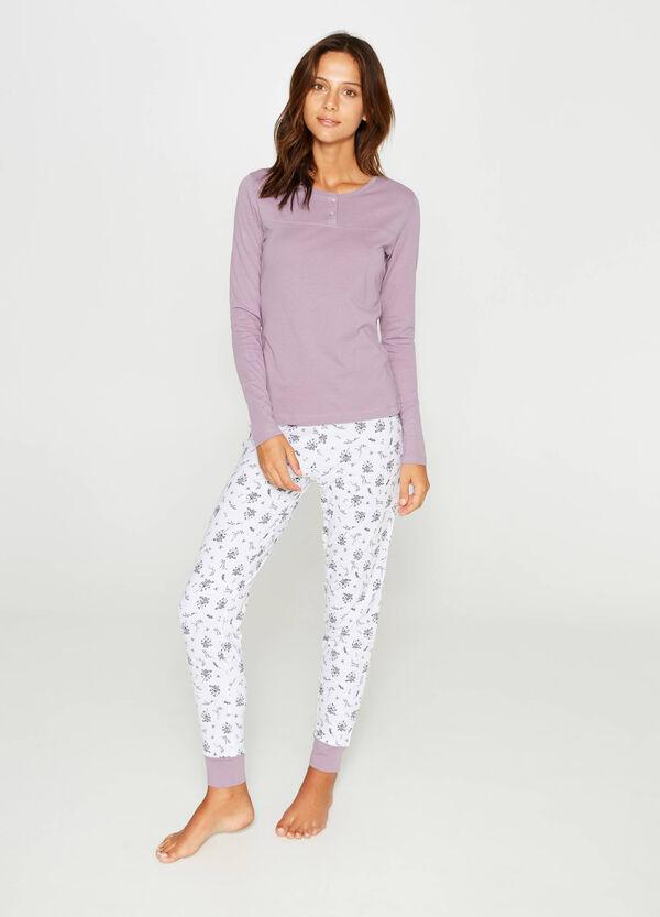 Floral pattern cotton pyjamas | OVS