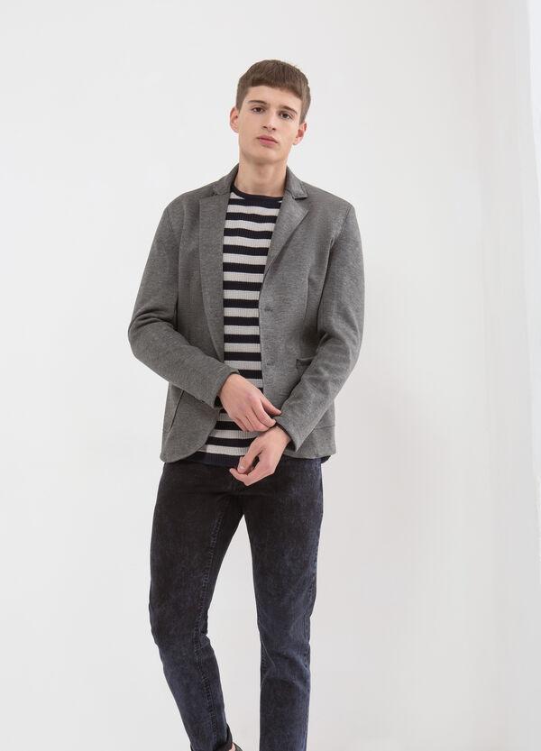 Solid colour 100% cotton jacket. | OVS