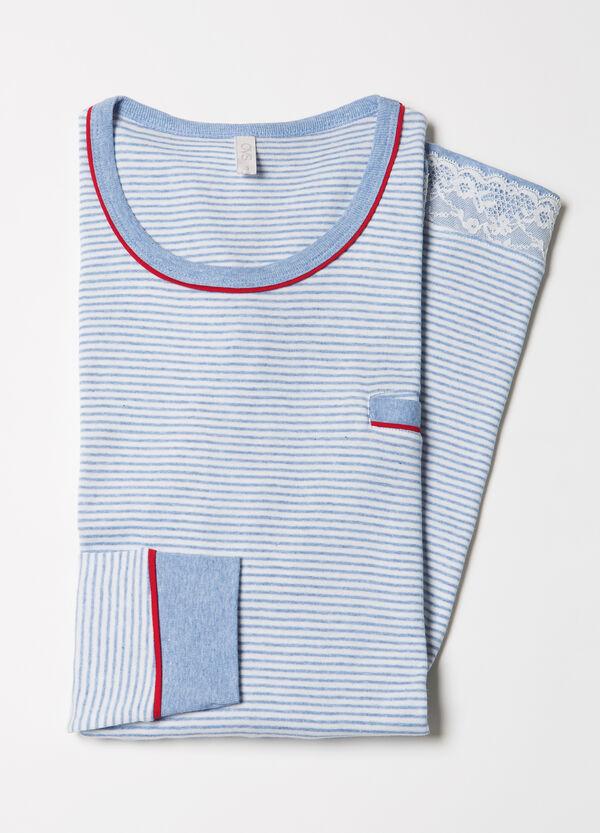 100% cotton striped nightshirt | OVS