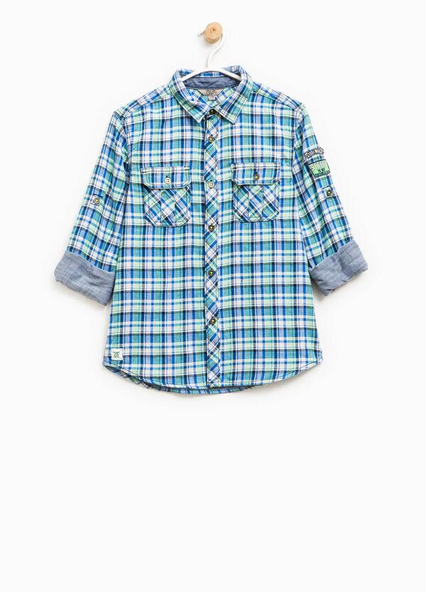 Camicia puro cotone fantasia tartan | OVS