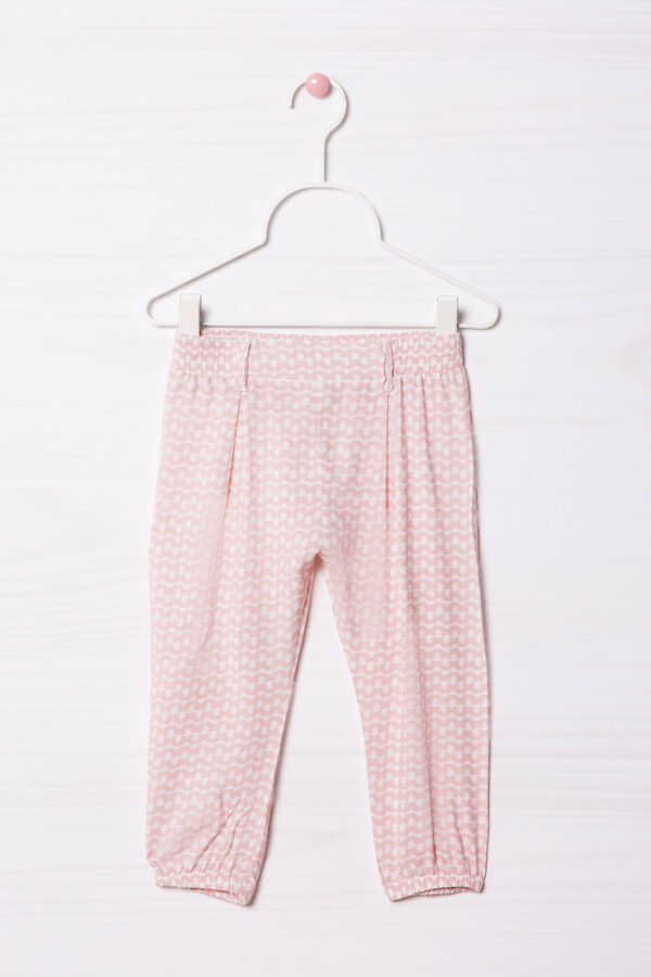 Viscose trousers with elastic waist band.   OVS
