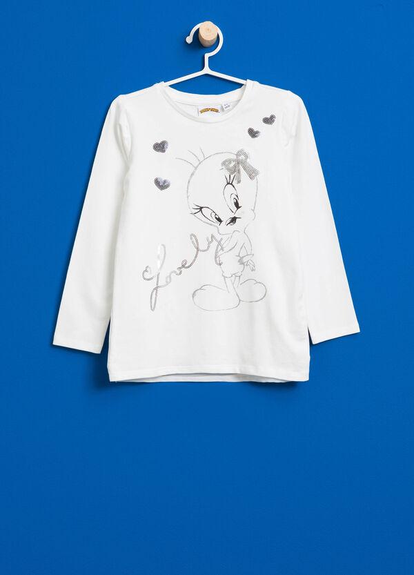 T-shirt stampa Titti con paillettes | OVS