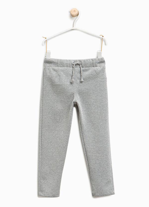 Pantaloni tuta in cotone con lurex | OVS