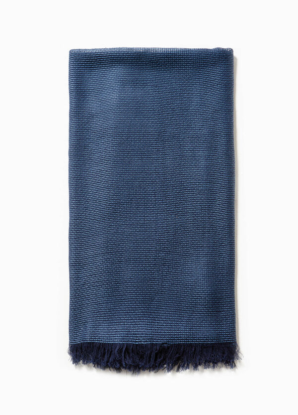 Knitted scarf in cotton and viscose | OVS