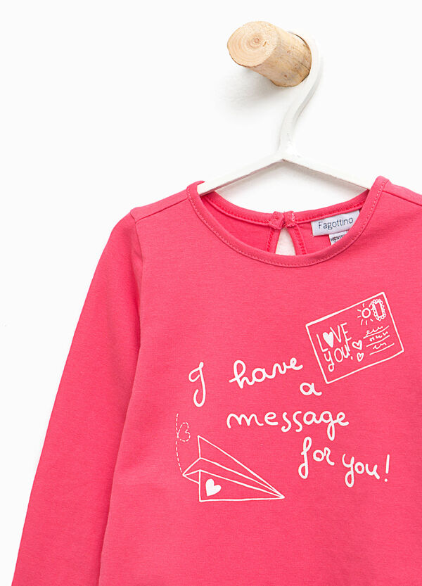 T-shirt stampa lettering in cotone | OVS