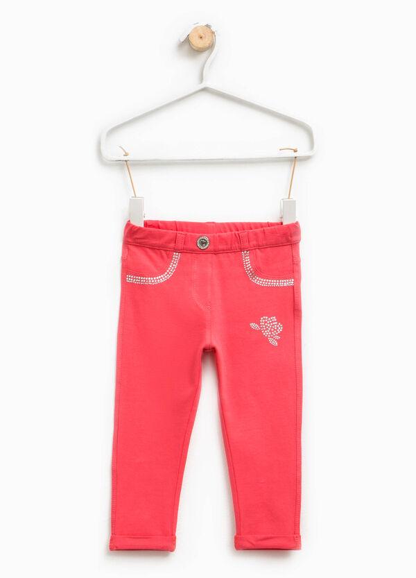 Pantaloni stretch con strass   OVS