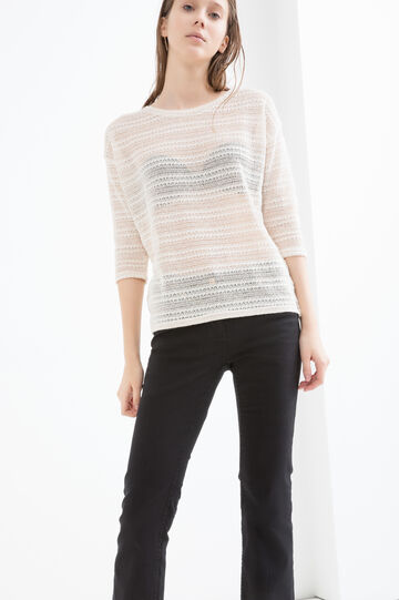 T-shirt traforata in misto viscosa