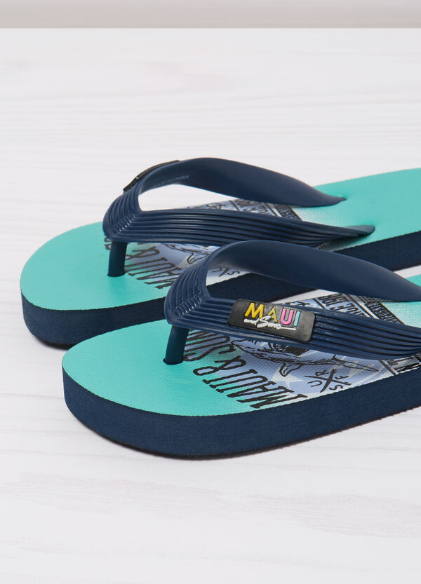 Shark print thong sandals by Maui and Sons | OVS
