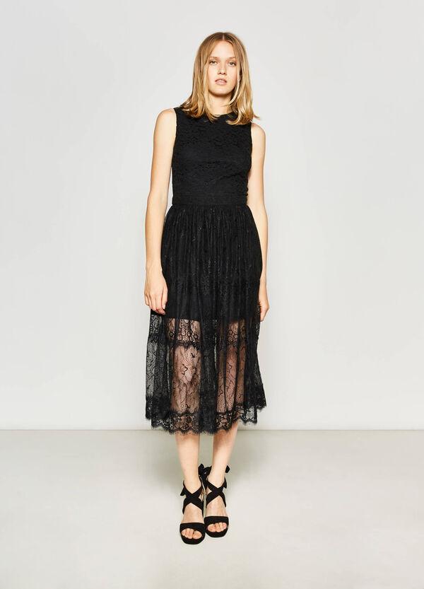 Longuette dress in cotton lace   OVS