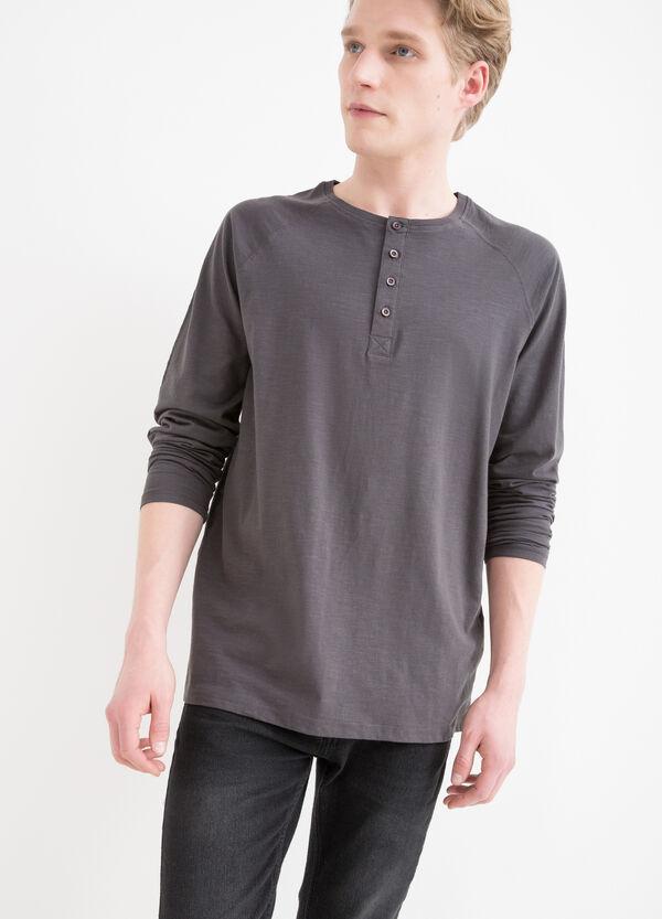 T-shirt puro cotone maniche lunghe   OVS