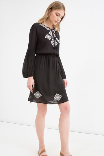 100% viscose dress with embroidery