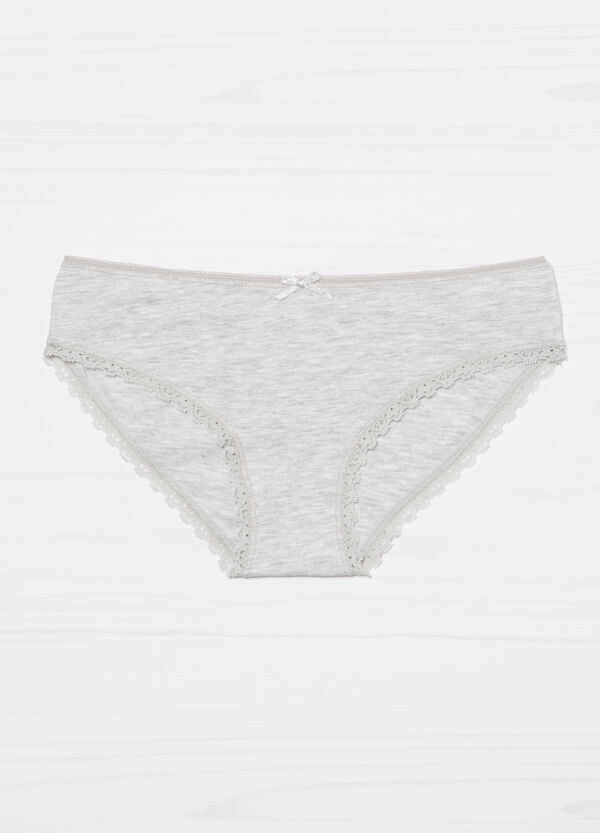 Stretch briefs with lace trim | OVS