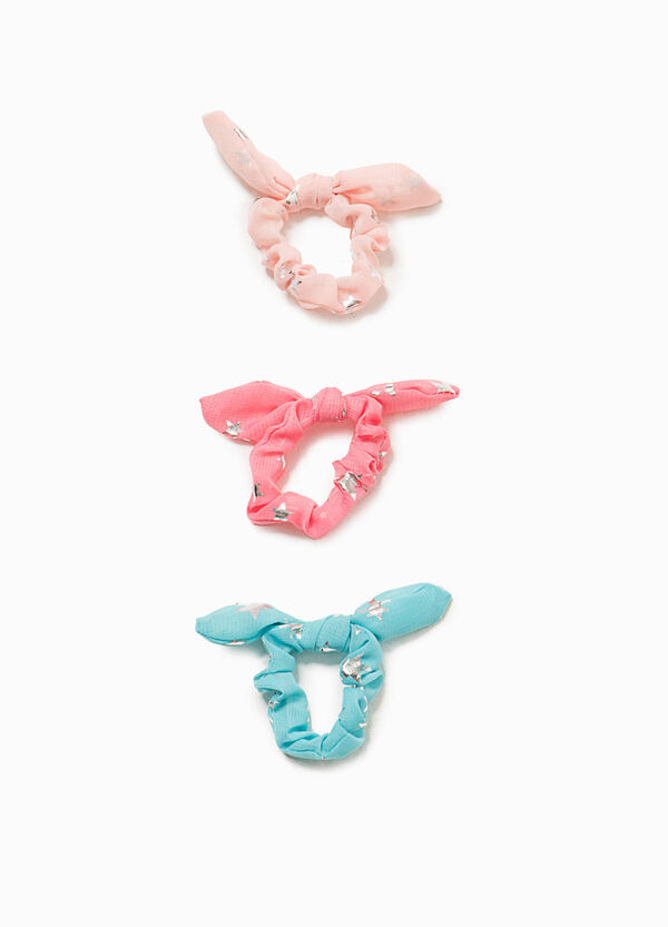 Set of three hair elastics with star pattern | OVS