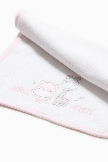 Asciugamano ricami e patch animaletti