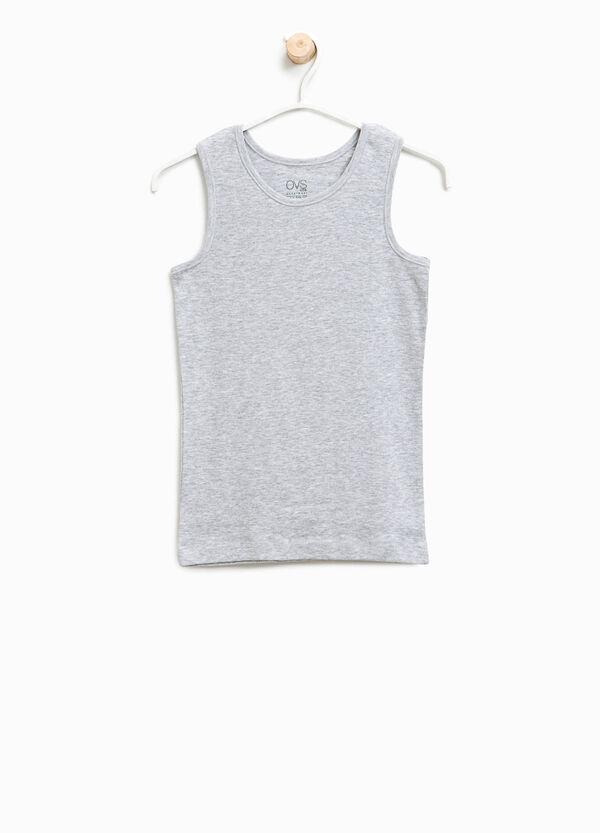 Solid colour organic cotton under vest | OVS