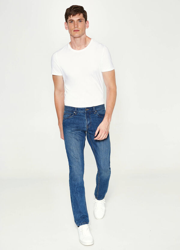 Straight-fit jeans with fading | OVS