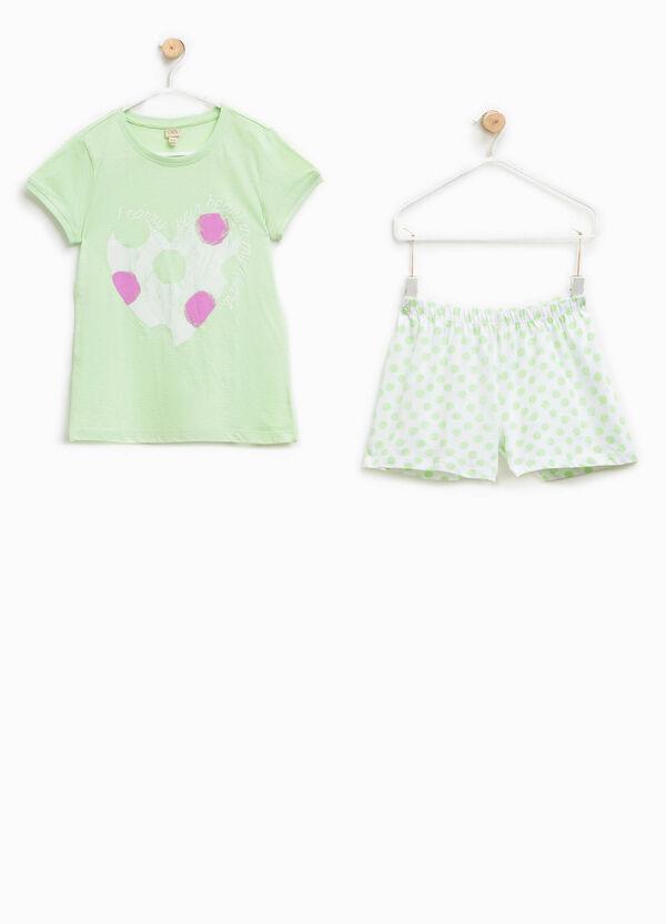 100% Biocotton pyjamas with shorts and T-shirt   OVS