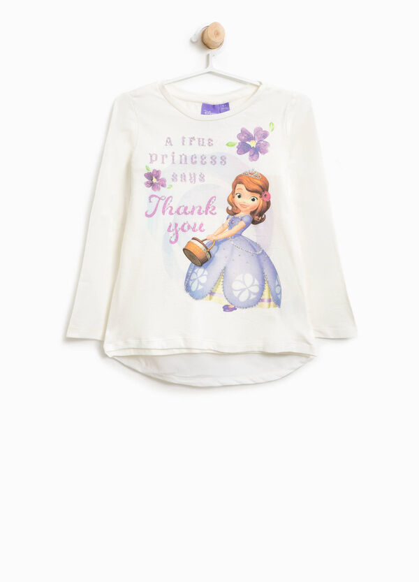 Cotton T-shirt with Sofia the First print | OVS