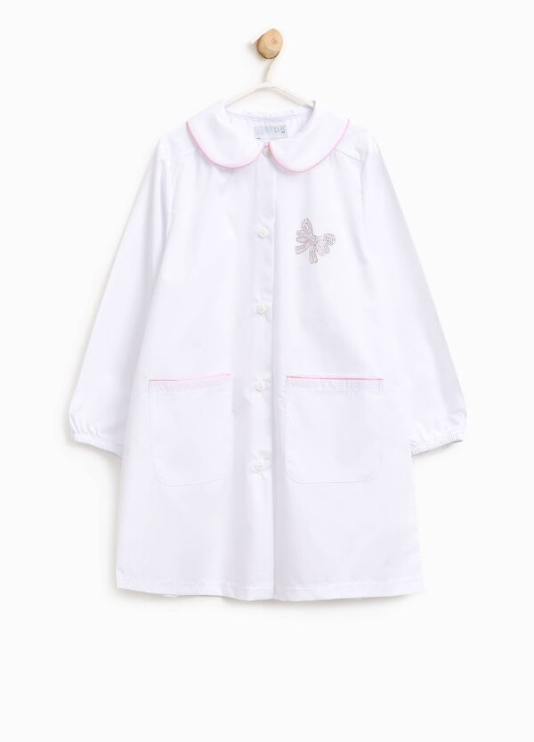 Cotton smock with bow-shaped diamantés | OVS