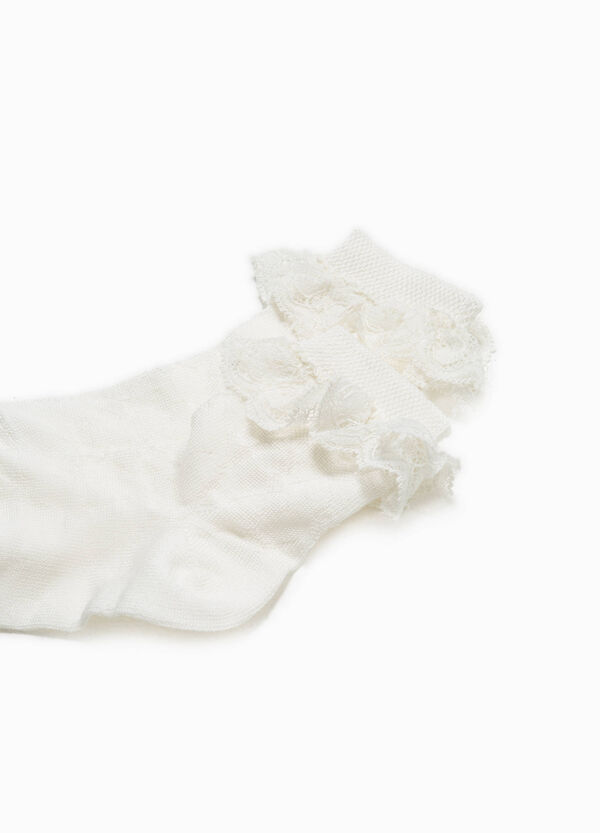 Short socks with lace flounce | OVS