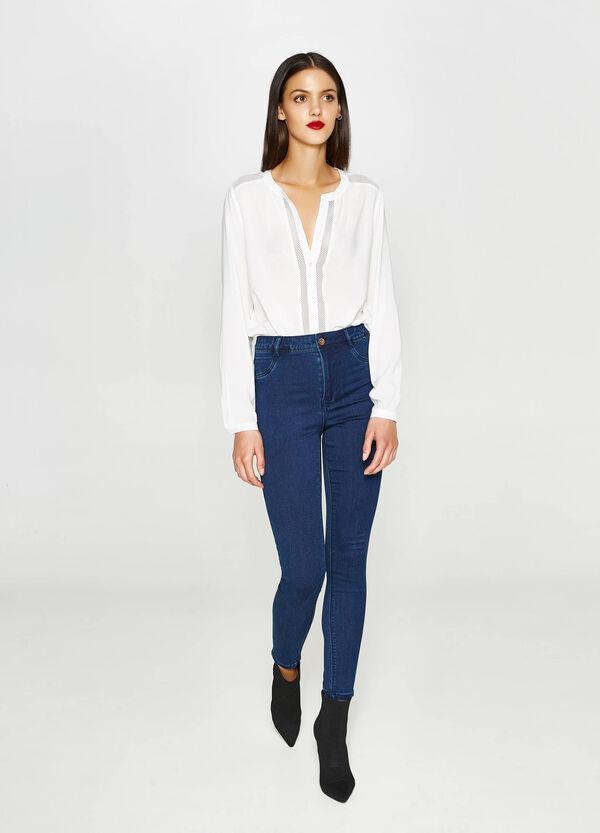 Jeans super skinny fit stretch a vita alta   OVS