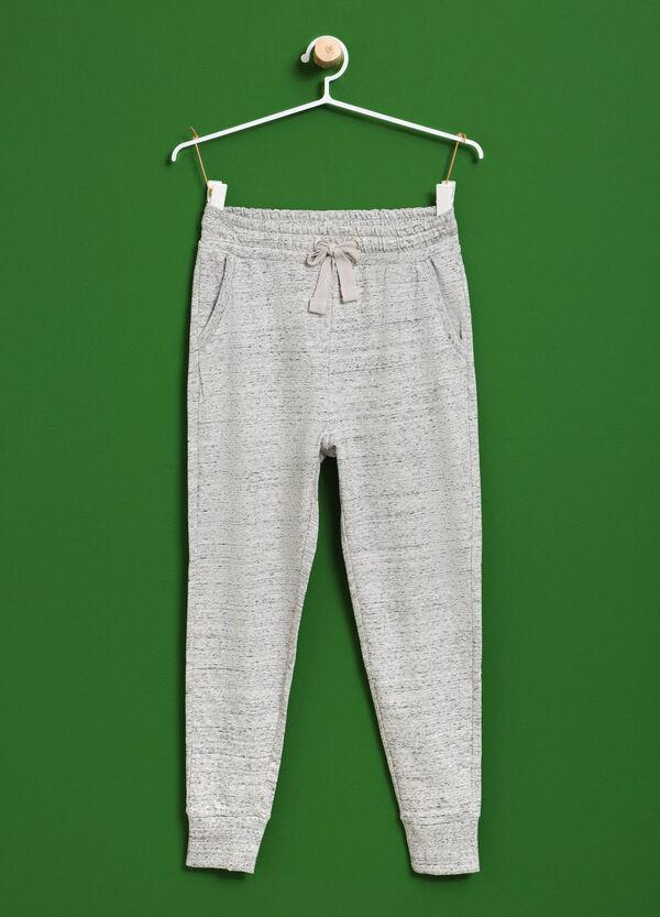Pantaloni tuta in cotone mélange | OVS