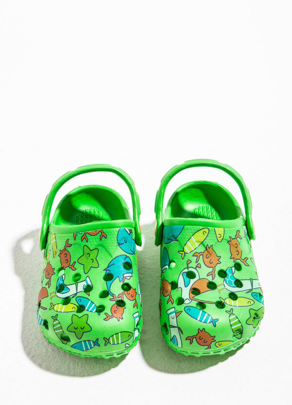 Zapatillas de casa caladas con estampado | OVS