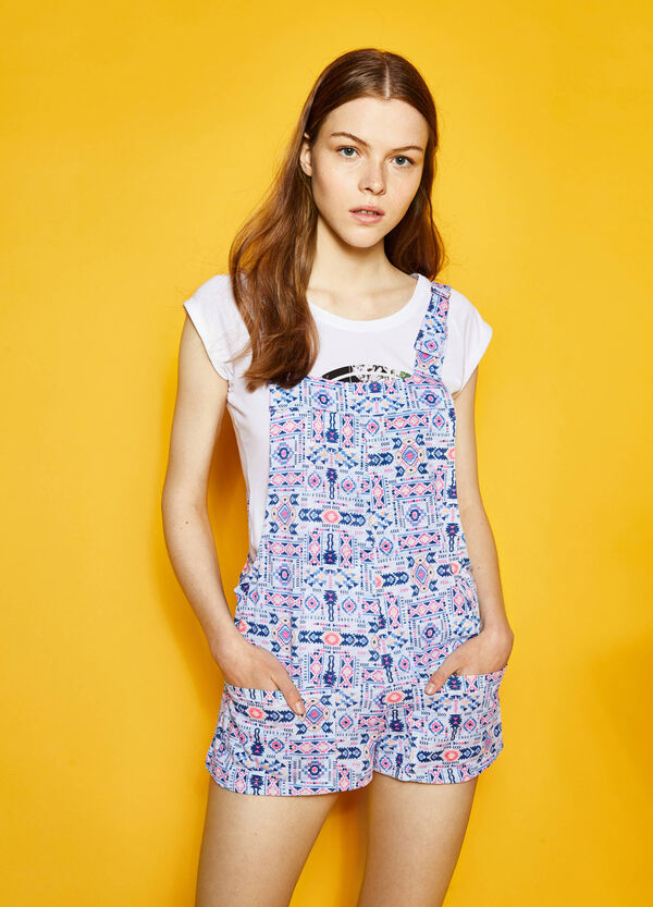Embroidery print dungarees by Maui and Sons | OVS