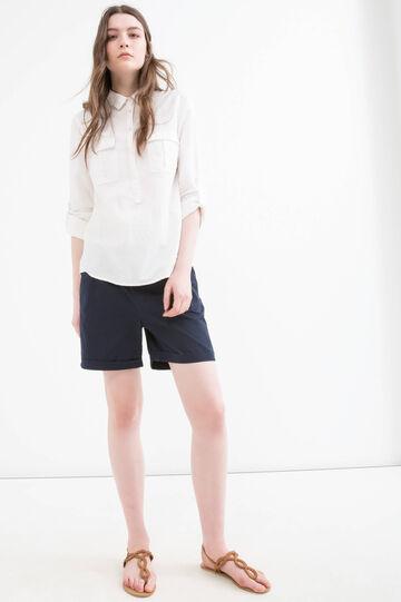 Solid colour 100% cotton shorts