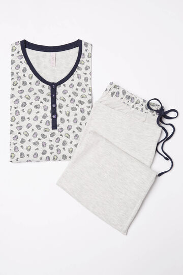 Cotton pyjamas with paisley print