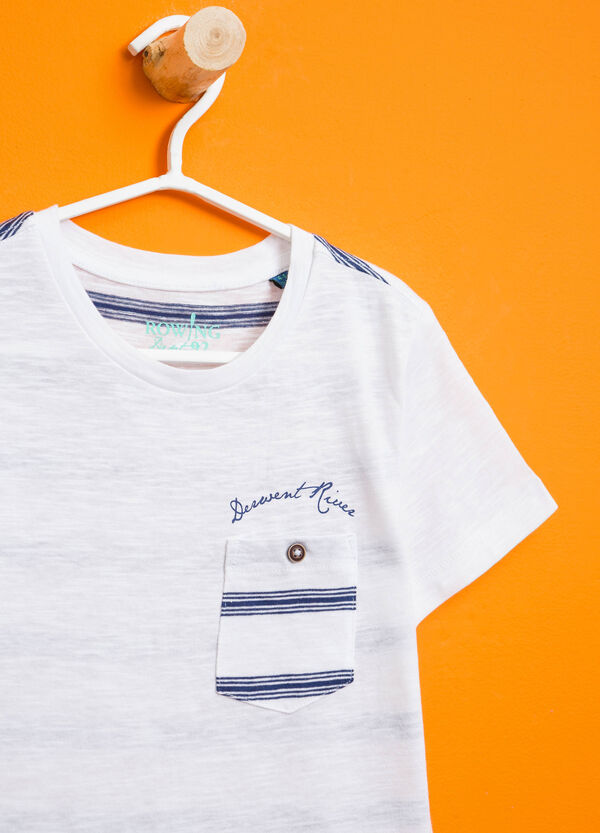 T-shirt with striped back and pocket   OVS