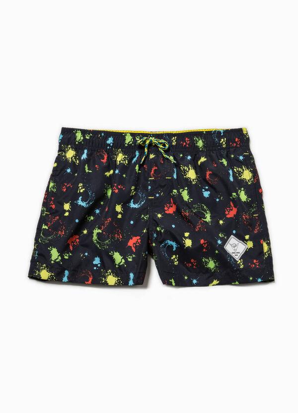 Swim boxer shorts with colour splash pattern | OVS