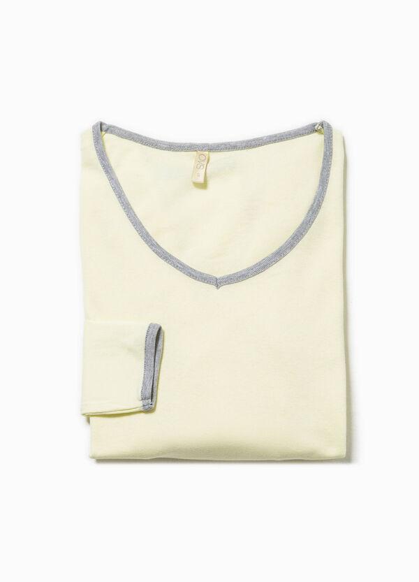 Maglia pigiama in cotone scollo a V   OVS