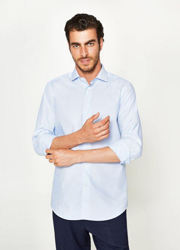Camicia formale slim fit a micro righe   OVS