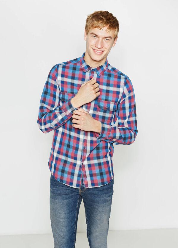 Camicia casual in puro cotone a quadri | OVS