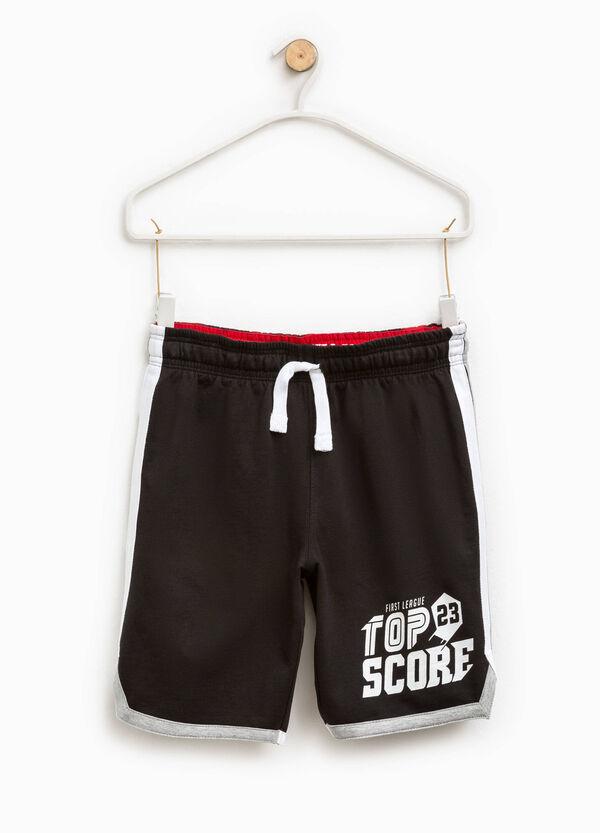 Bermuda shorts with print and drawstring | OVS