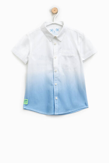 Cotton degradé-effect shirt