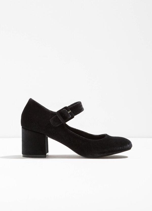 Scarpe con tacco largo in velour | OVS