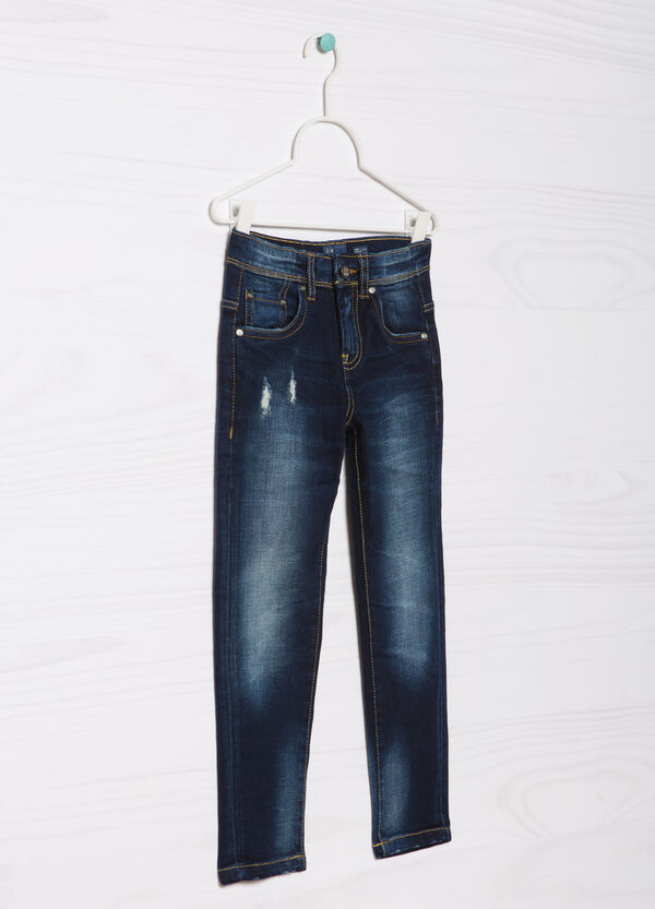 Blue-Black faded stretch jeans | OVS