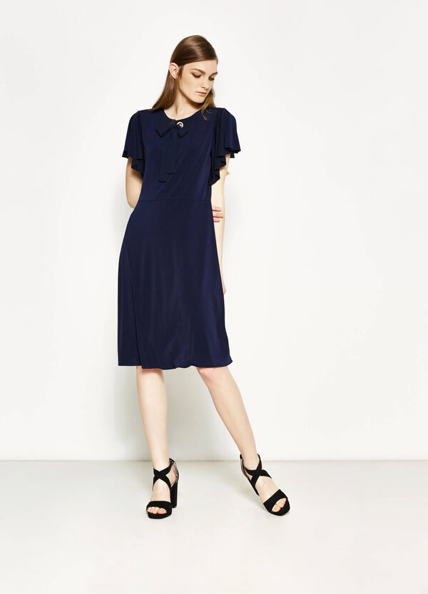 Stretch dress with tie | OVS