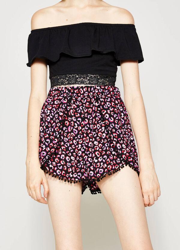 Shorts in viscosa stampati   OVS