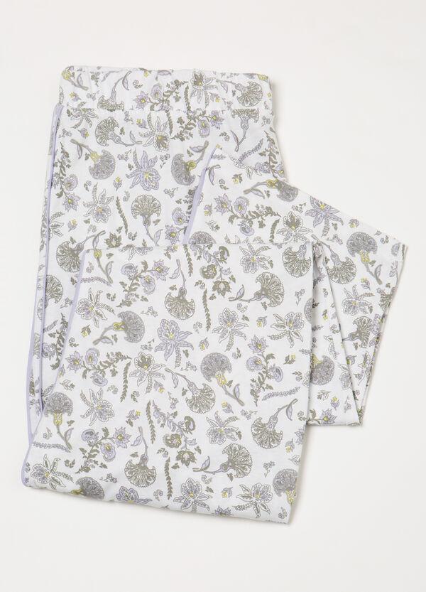 Curvy cotton pyjama trousers | OVS