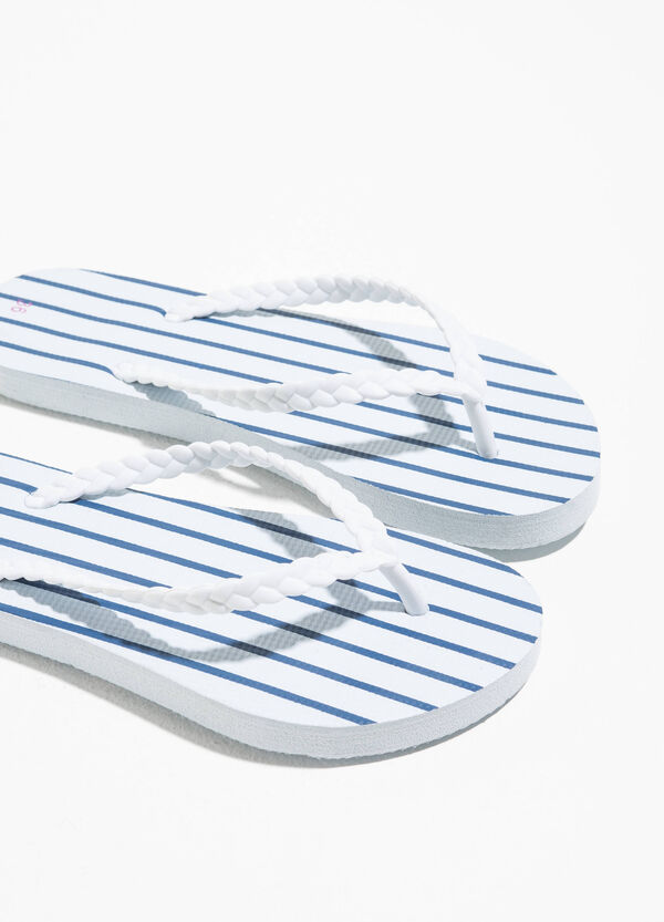 Rubber flip flops with stripes | OVS