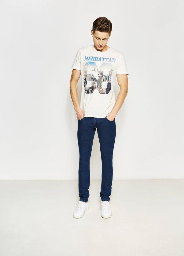 T-shirt con girocollo in costina | OVS