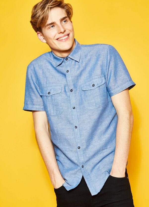 Camicia casual regular fit con taschini | OVS